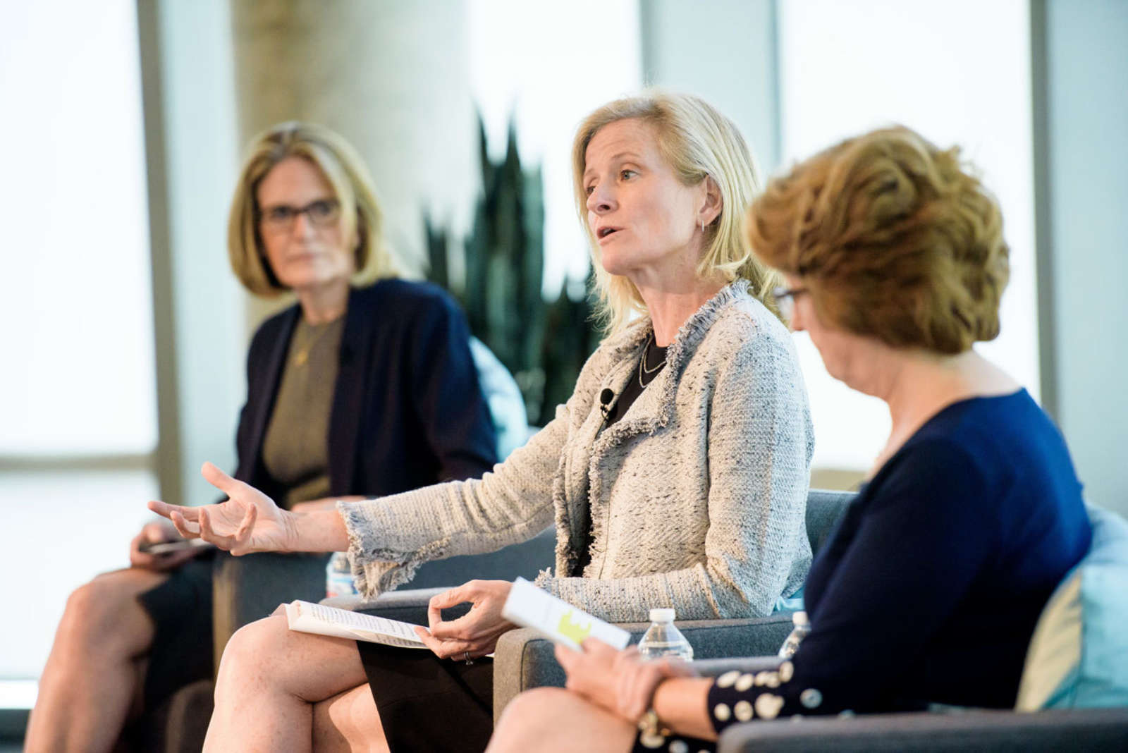 Ginny Brzezinski, Carroll Welch, and Mary Beth Barrett-Newman conference panel members