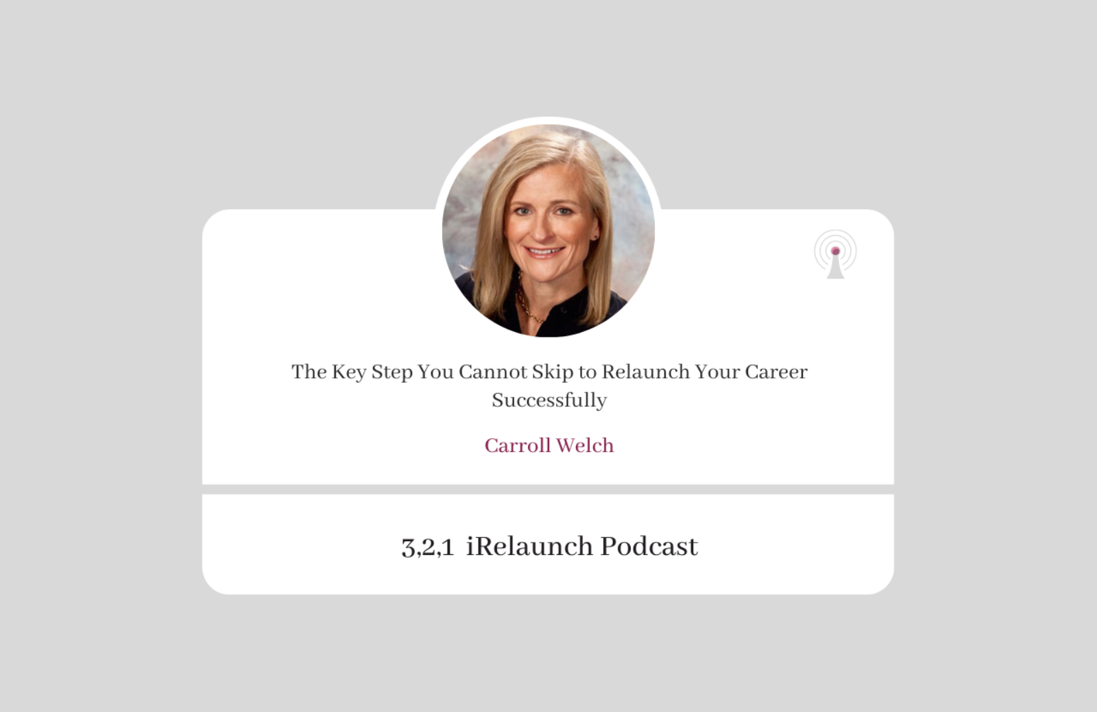 Episode 6 Caroll Welch podcast thumbnail