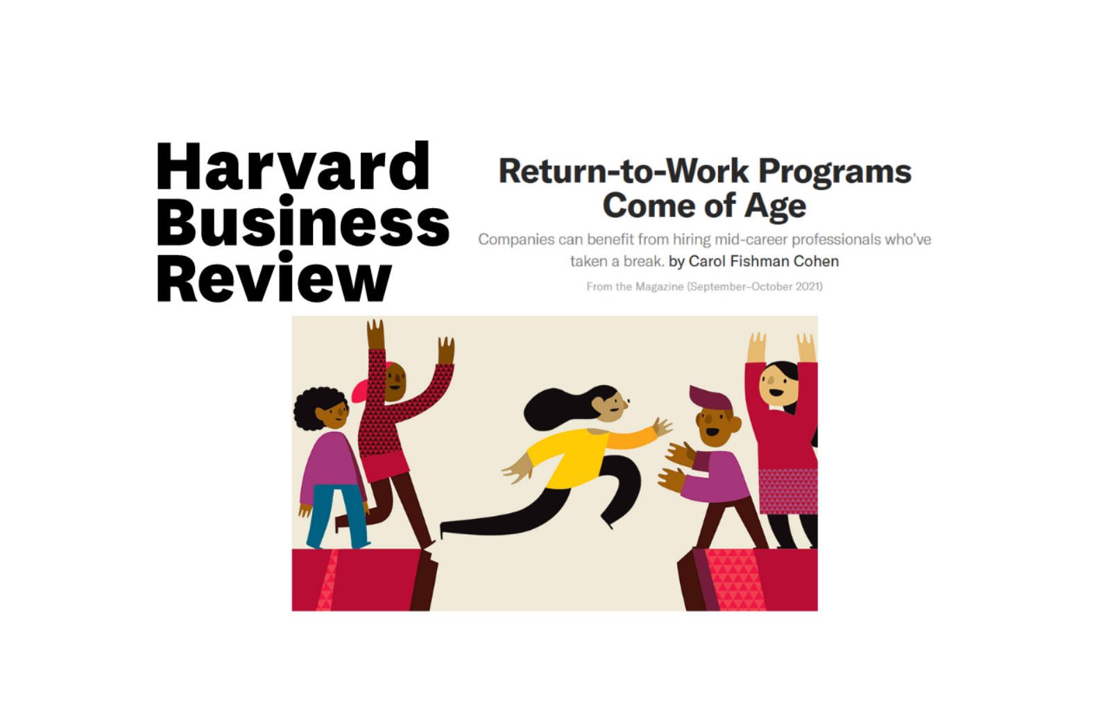 HBR Return to Work Programs Come of Age thumbnail