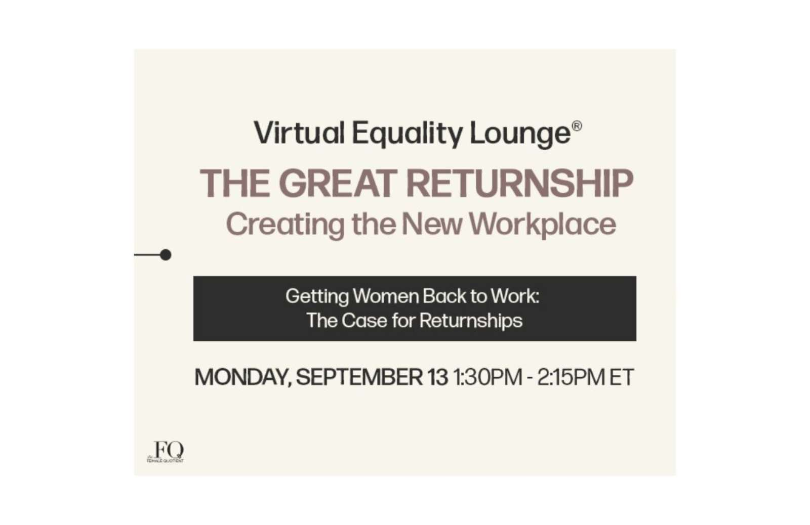 The female quotient event september 13 event thumbnail