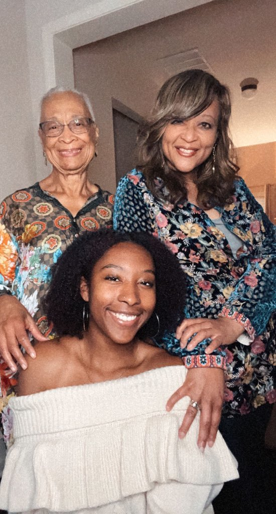 Janet Peterson with her mother and daughter